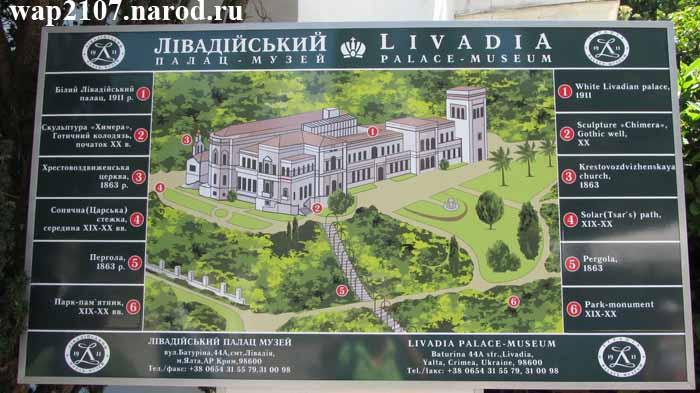 Схема территории Ливадийского